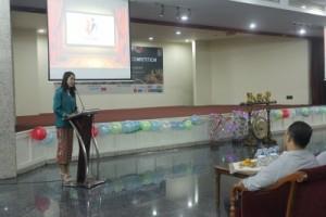 Sambutan Ketua Pelaksana the 1st PDC, Putri Iswara Dewi